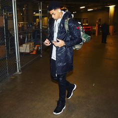 D'Angelo Russell wearing the '72-10' Air Jordan 11