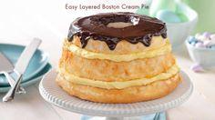 As easy as Easy Layered Boston Cream Pie.  #JELLO