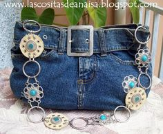 El taller de Anaisa: Tutorial de bolso reciclado de jeans