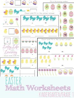 Free printable Easter-Themed Math Worksheets  Download and print free Easter-Themed Math Worksheets.