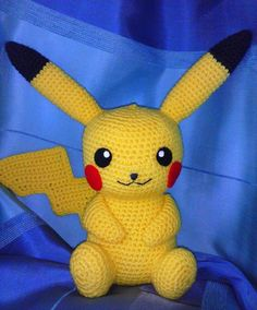"Here is Pikachu requested by my 5 year old son, he just ""discovered"" Pokemon for himself Pattern is by me, it has some flaws, if you are interested I can try to fix them and post the pattern (every. Pikachu Pikachu, Crochet Pikachu, Pichu Pokemon, Pokemon Crochet Pattern, Crochet Patterns, Crochet Crafts, Crochet Dolls, Crochet Projects, Crochet For Beginners"