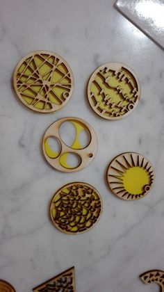 earrings - lasercut with polycarbonate
