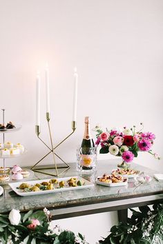 Elegant engagement party inspiration with Crate and Barrel | Photo by Jennifer Young Studio | Read more -  http://www.100layercake.com/blog/wp-content/uploads/2015/03/elegant-engagment-party-inspiration