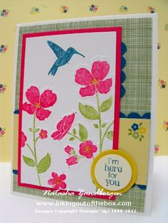 Wildflower Meadow stamp set and matching TIEF, Gingham Garden DSP
