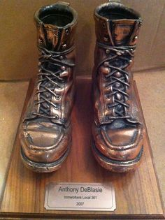 Bronzed Ironworker Boots