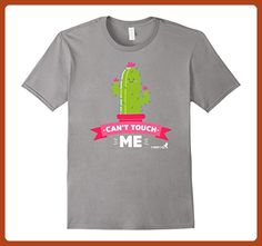 14ebeb9d Mens Cactus Can't Touch Me Funny Humorous Quirky T-shirt Small Slate -