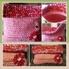 Bolso de mano a Crochet !! Trapillo ¡¡