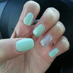 CND Shellac in Mint Convertible & Ice Vapor ♥
