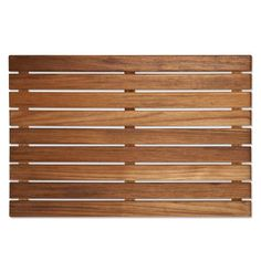A space-saving 20 x 14 teak bath mat, ideal for the small bathroom. Burmese or Plantation Teak. Ideal inside or outside the shower or tub. Made in America. Teak Shower Mat, Bath Or Shower, Shower Floor, Shower Mats, Baby Shower, Teak Bathroom, Laundry In Bathroom, Bathrooms, Bathroom Ideas