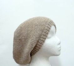 Slouchy hat  100 wool knitted mens hats womens hats by CaboDesigns, $28.00