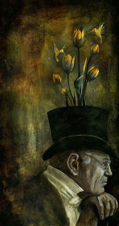 Creative Illustrations by Beatriz Martin Vidal - this illustration make me smile, you first think it a flower pot then scrawl down and realize it's a hat.