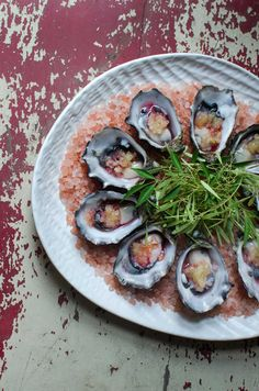 Oysters, charred finger lime, smoked pepperberry vodka