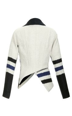 Yigal Azrouel Elongated Stripe Jacket by Yigal Azrouël for Preorder on Moda Operandi