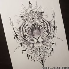 Loral thigh / hip design within reach! With pleasure I tattoo this be Leo Tattoos, Animal Tattoos, Body Art Tattoos, Sleeve Tattoos, Mandalas Painting, Mandalas Drawing, Tiger Tattoo Design, Tattoo Designs, Tattoo Sketches