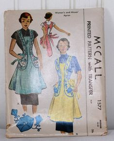 c5654ec079d7 McCalls 1577 Cover-all Apron Sewing Pattern