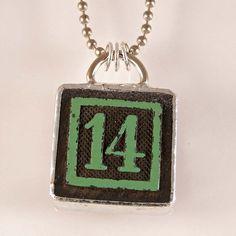Number 14 Pendant by XOHandworks on Etsy, $20.00>>>ASIAN707.COM<<<생방송바카라라이브바카라인터넷바카라마카오바카라바카라사이트바카라싸이트