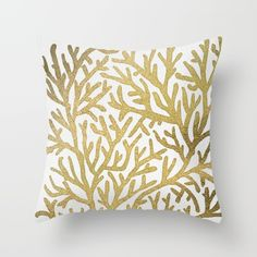 Buy Gold Coral Throw Pillow by Cat Coquillette. Worldwide shipping available at Society6.com. Just one of millions of high quality products available.