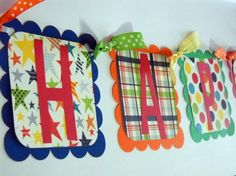 ALL BOY  Happy Birthday Banner/ Primary Colors by 62Cards on Etsy, $29.95