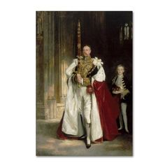 Trademark Fine Art 'Sixth Marquess Of Londonderry' Canvas Art by John Singer Sargent, Red