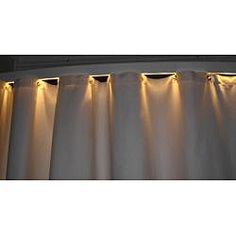 @Overstock - This aluminum-alloy modern shower curtain rod with slight bowing is the ultimate in modern bathroom design, featuring a white light bar for your shower area. Serving double duty as a nightlight, the bar gives off a gentle, non-jarring illumination.http://www.overstock.com/Bedding-Bath/Ultimate-Shower-Rod-with-White-Light-Bar/6542725/product.html?CID=214117 $194.99