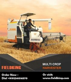 In modern agricultural machinery, the combine harvester is the most popular farming machine which is used to harvest multiple crops like rice, wheat, sunflowers, corn, etc. There are many types of harvesting machines available in the agricultural machinery market. But the advanced combine harvester is the most usable and profitable, time-saving equipment.