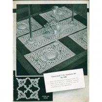 Rare 1937 Crochet Patterns Bedspreads Luncheon Sets Cluny Filet +