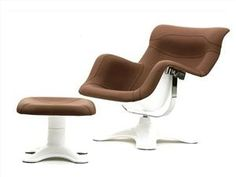 Icon: Karuselli Lounge Chair by Yrjö Kukkapuro for Avarte ( 1964 ) Ottoman Sofa, Upholstered Arm Chair, Furniture Upholstery, New Furniture, Furniture Design, Lounge Chair, Comfy Chair, Teal Accent Chair, Accent Chairs