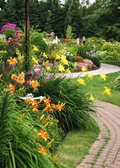 ornamental grasses and perennial flowers landscaping   Landwork Contractors   Landscape Design