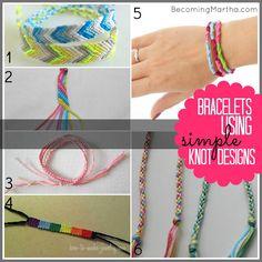 20 Friendship Bracelet Tutorials from 1 Supply - Becoming Martha