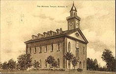 The Mormon Temple Kirtland, Ohio OH Original Vintage Postcard 1909 Mormon Temples, Lds Temples, Kirtland Temple, Community Of Christ, Mormon History, Later Day Saints, Church History, Holy Ghost, Mormons
