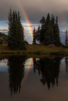 Rainbow Reflection by IntrepidXJ, via Flickr