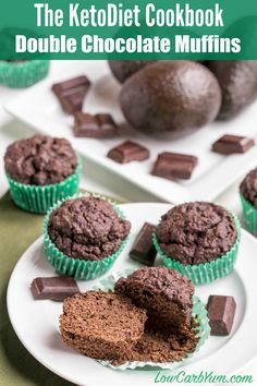Double Chocolate Muffins - KetoDiet Cookbook