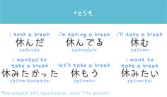 Rest Japanese words arghlblargh!
