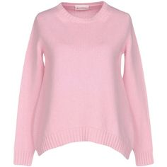 Dondup Jumper (9.835 RUB) ❤ liked on Polyvore featuring tops, sweaters, pink, long sleeve sweater, pink sweater, jumper top, lightweight sweaters and merino wool tops