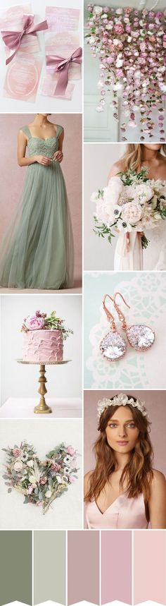 Find Out How to Create A Pretty Pink, Sage and White Wedding on http://www.onefabday.com