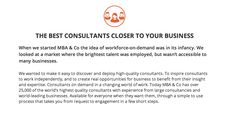 About MBA & Company: Changing the way you find a consultant  https://www.mbaco.com/about-us