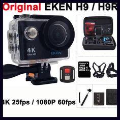 """Original EKEN H9 / H9R Action camera Ultra HD 4K / 25fps WiFi 2.0"""" 170D underwater waterproof Helmet Cam camera Sport cam"""