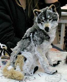 Made out of pipe cleaners. Wow