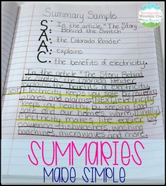 Writing Summaries