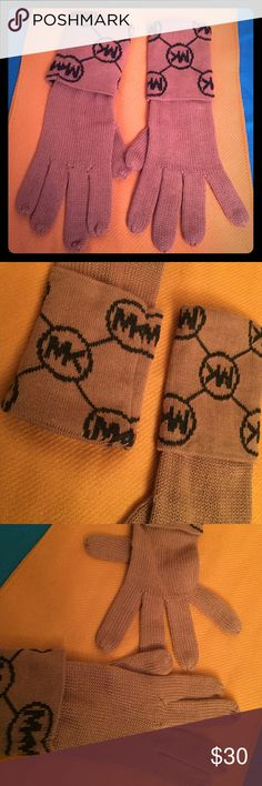 ❄️Michael Kors Gloves❄️ Authentic Michael Kors Gloves. Tan with Charcoal Grey MK Logos on the Cuffs. 100% Acrylic. Matches a MK Head Warmer Listed Separately in my closet. Great BUNDLE PURCHASE!  Brand New. Excellent Condition. No Trades. See Also other MK Listings in My Closet. Michael Kors Accessories Gloves & Mittens