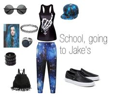 """School, going to Jake's"" by tinabtr ❤ liked on Polyvore featuring Vans and Mia Bag"