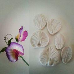 Silicone print Sweet pea petals