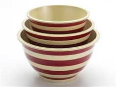 Signature Mixing Bowl Set (3-pc.): Red by Paula Deen