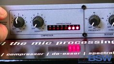 Demo of DBX 286s Mic preamp.