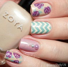 Pink, white, turquoise, nude, several colors, glowers, stripes, rhinestones, simple, advanced, short nails