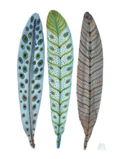 Feathers. Water color by GollyBard on Etsy. #inspiration #illustration #feather