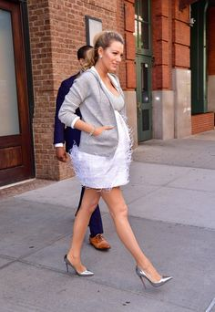 Pin for Later: Blake Lively Looks Like She's Ready For the Red Carpet — Until You See Her Jacket