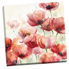 Poppy Field by E. Franklin Painting Print on Wrapped Canvas