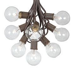G50 String Lights with 125 Clear Globe Bulbs  Outdoor Globe Light Strings  Market Bistro Caf Hanging String Lights  Party Patio Garden Umbrella Globe Lights  Brown Wire  100 Foot ** Continue to the product at the image link.
