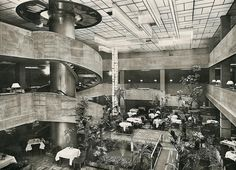 The Traube restaurant in 1920s Berlin included a tropical garden complete with water feature and parrots.